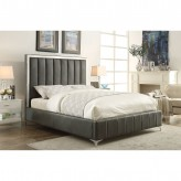 Coaster Jared Grey Queen Upholstered Platform Bed Available Online in Dallas Fort Worth Texas