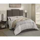 Lawndale Gray Queen Upholstered Platform Bed Available Online in Dallas Fort Worth Texas