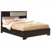 Coaster Havering Black and Sterling Queen Platform Bed Available Online in Dallas Fort Worth Texas