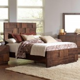Coaster Gallagher Golden Queen Panel Bed Available Online in Dallas Fort Worth Texas