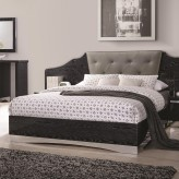 Coaster Alessandro Glossy Black Queen Platform Bed Available Online in Dallas Fort Worth Texas