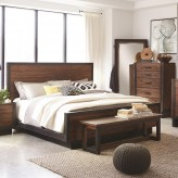 Coaster Ellison Bourbon Brown Queen Platform Bed Available Online in Dallas Fort Worth Texas