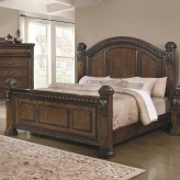 Satterfield Warm Bourbon Queen Bed Available Online in Dallas Fort Worth Texas