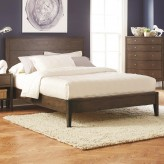 Lompoc Ash Brown Queen Platform Bed Available Online in Dallas Fort Worth Texas