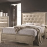 Coaster Beaumont Champagne Queen Bed Available Online in Dallas Fort Worth Texas