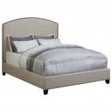 Coaster Rivera Beige King Upholstered Platform Bed Available Online in Dallas Fort Worth Texas