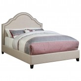 Coaster Cantillo Oatmeal King Upholstered Platform Bed Available Online in Dallas Fort Worth Texas