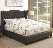 Newburgh Slate Gray King Upholstered Platform Bed Available Online in Dallas Fort Worth Texas
