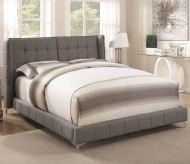 Coaster Goleta Light Gray King Upholstered Platform Bed Available Online in Dallas Fort Worth Texas