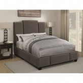 Lawndale Gray King Upholstered Platform Bed Available Online in Dallas Fort Worth Texas