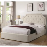 Hermosa Beige King Upholstered Platform Bed Available Online in Dallas Fort Worth Texas