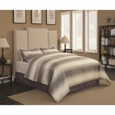 Lawndale Beige King Upholstered Platform Bed Available Online in Dallas Fort Worth Texas