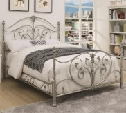 Coaster Evita Chrome King Metal Bed Available Online in Dallas Fort Worth Texas