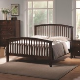Tia Cappuccino King Panel Bed Available Online in Dallas Fort Worth Texas