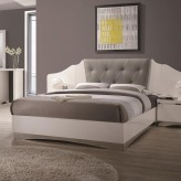 Coaster Alessandro Glossy White King Platform Bed Available Online in Dallas Fort Worth Texas