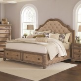 Ilana Antique Linen King Panel Storage Bed Available Online in Dallas Fort Worth Texas