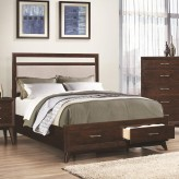 Coaster Carrington Coffee King Platform Storage Bed Available Online in Dallas Fort Worth Texas