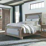 Florence Solid Pine Upholstered King Bed Available Online in Dallas Fort Worth Texas