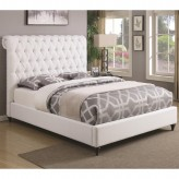 Coaster Devon White Full Upholstered Platform Bed Available Online in Dallas Fort Worth Texas