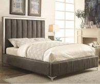 Coaster Jared Grey Full Upholstered Platform Bed Available Online in Dallas Fort Worth Texas