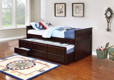La Salle Twin Cappuccino Daybed With Trundle Available Online in Dallas Fort Worth Texas