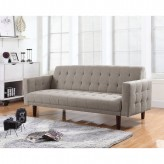 Coaster Futons Light Taupe Button Tufted Sofa Bed Available Online in Dallas Fort Worth Texas