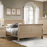Coaster Hershel Metallic Champagne Full Panel Bed Available Online in Dallas Fort Worth Texas