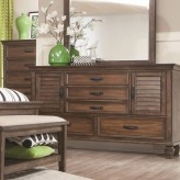 Coaster Franco Burnished Oak Dresser Available Online in Dallas Fort Worth Texas