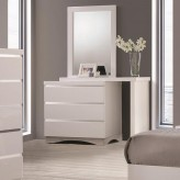 Coaster Alessandro Glossy White Dresser Available Online in Dallas Fort Worth Texas