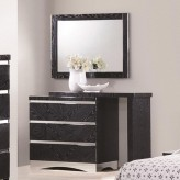 Coaster Alessandro Glossy Black Dresser Available Online in Dallas Fort Worth Texas