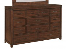 Artesia Dark Cocoa 10 Drawer Dresser Available Online in Dallas Fort Worth Texas