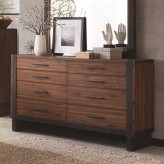 Coaster Ellison Bourbon Brown Dresser Available Online in Dallas Fort Worth Texas