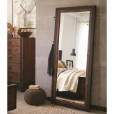 Coaster Ellison Bourbon Brown Floor Mirror Available Online in Dallas Fort Worth Texas