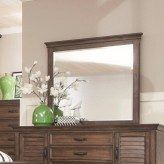 Coaster Franco Burnished Oak Mirror Available Online in Dallas Fort Worth Texas