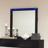 Coaster Havering Black and Sterling Mirror Available Online in Dallas Fort Worth Texas