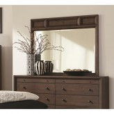 Coaster Bingham Brown Oak Mirror Available Online in Dallas Fort Worth Texas