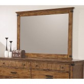 Coaster Brenner Rustic Honey Mirror Available Online in Dallas Fort Worth Texas