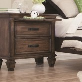 Coaster Franco Burnished Oak Nightstand Available Online in Dallas Fort Worth Texas