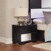 Coaster Havering Black and Sterling Nightstand Available Online in Dallas Fort Worth Texas