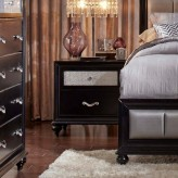 Barzini Black Nightstand Available Online in Dallas Fort Worth Texas