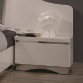 Coaster Alessandro Glossy White Nightstand Available Online in Dallas Fort Worth Texas