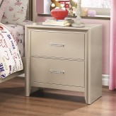 Coaster Lana Silver Nightstand Available Online in Dallas Fort Worth Texas
