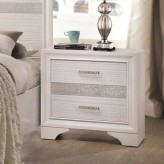 Miranda White Nightstand Available Online in Dallas Fort Worth Texas