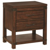 Artesia Dark Cocoa 2 Drawer Nightstand Available Online in Dallas Fort Worth Texas