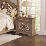 Ilana Antique Linen Door Nightstand Available Online in Dallas Fort Worth Texas