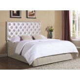 Coaster Mauve Silver Upholstered Queen/Full Headboard with LED Light Available Online in Dallas Fort Worth Texas