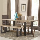 Coaster Levine Weathered Grey Dining Table Available Online in Dallas Fort Worth Texas