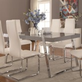 Coaster Giovanni High Gloss Grey Dining Table Available Online in Dallas Fort Worth Texas