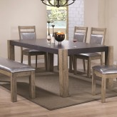 Coaster Ludolf Dark Concrete and Antique Natural Dining Table Available Online in Dallas Fort Worth Texas