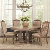 Coaster Ilana Antique Linen Round Dining Table Available Online in Dallas Fort Worth Texas